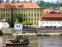 Cultured people, beware, we have a Kafka Museum here! See the banner on the wall.