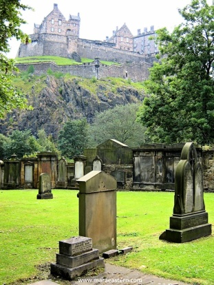 My first shot of Edinburgh was that of a graveyard. Typical.