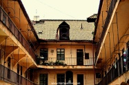 An Old Town tenement house. Grungy.
