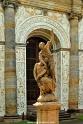 A convoluted baroque statue.