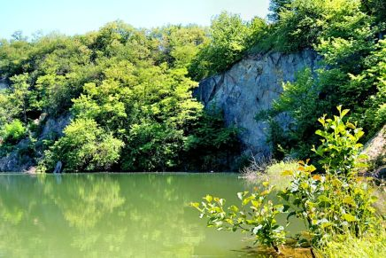 Flooded quarry.