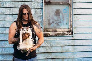 A rocker rocks a cat