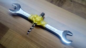 Home-made corkscrew