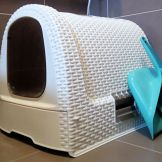 Cat litter box in a matching design