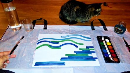 The cat finds blue soothing