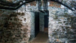 Medieval crypt with 1970s electrification