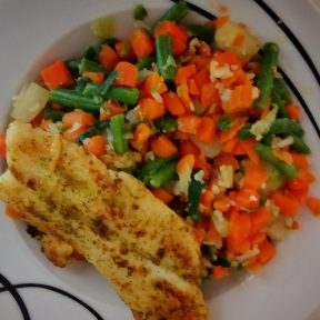 More cheap overcooked fish and veggies