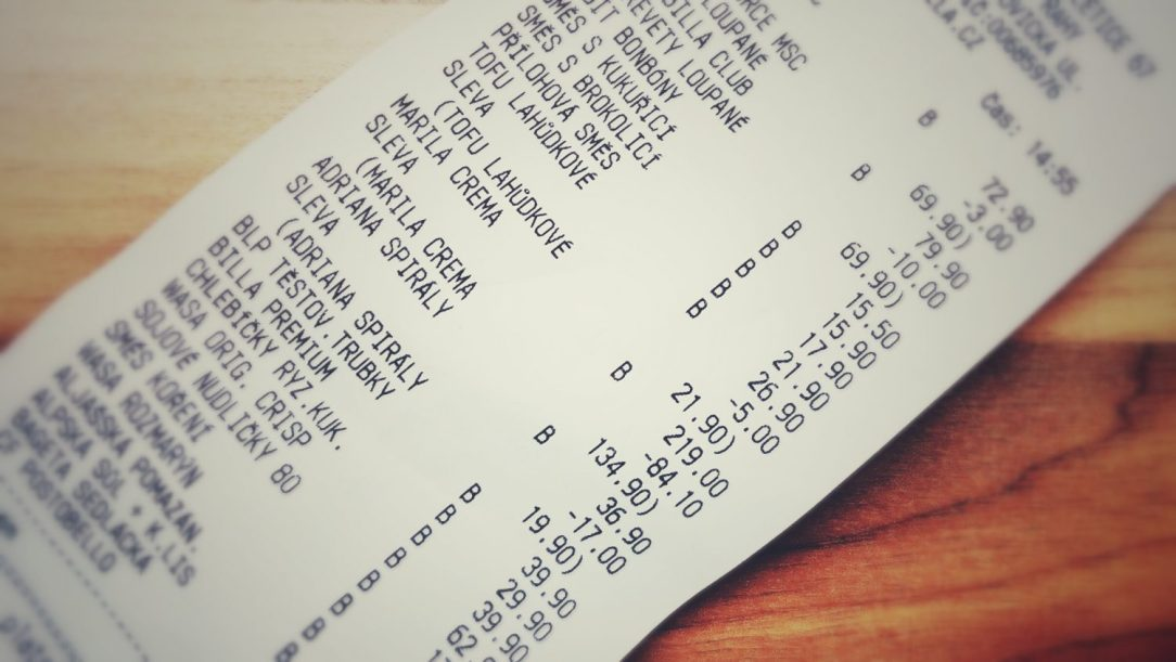 My 1.6 foot grocery bill
