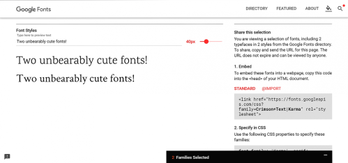 More Mara-approved fonts