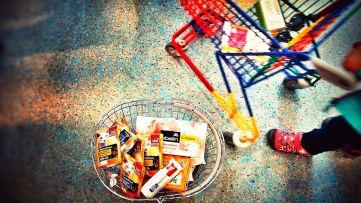 Kids playing shop