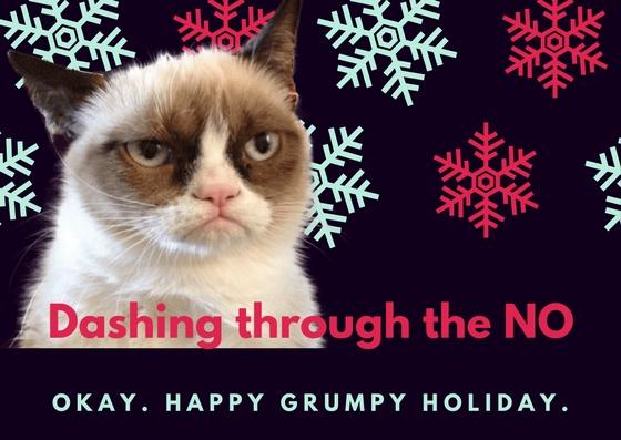 Dark Violet Snow Flakes Christmas Thank You Card